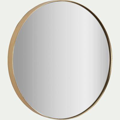 Miroir rond - D50,5xP4cm doré-Oundo