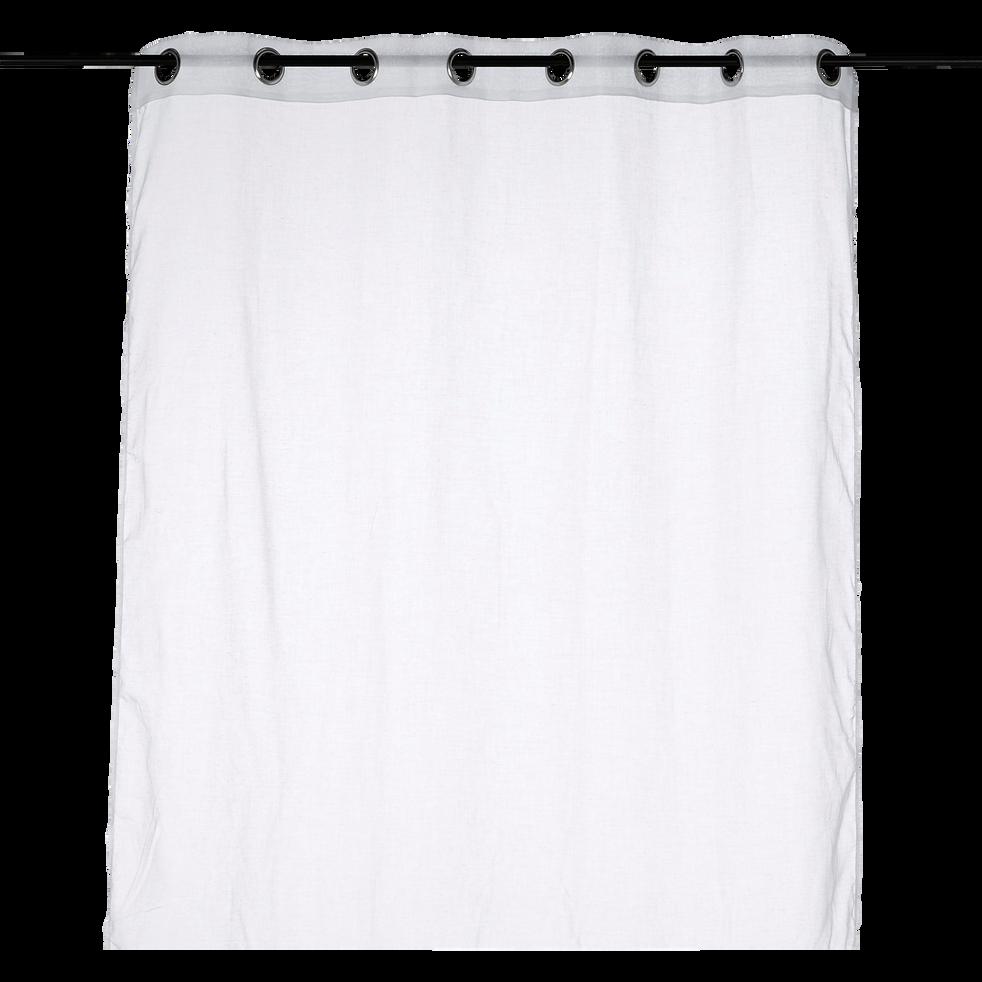 Voilage à oeillets blanc 140x250cm-City