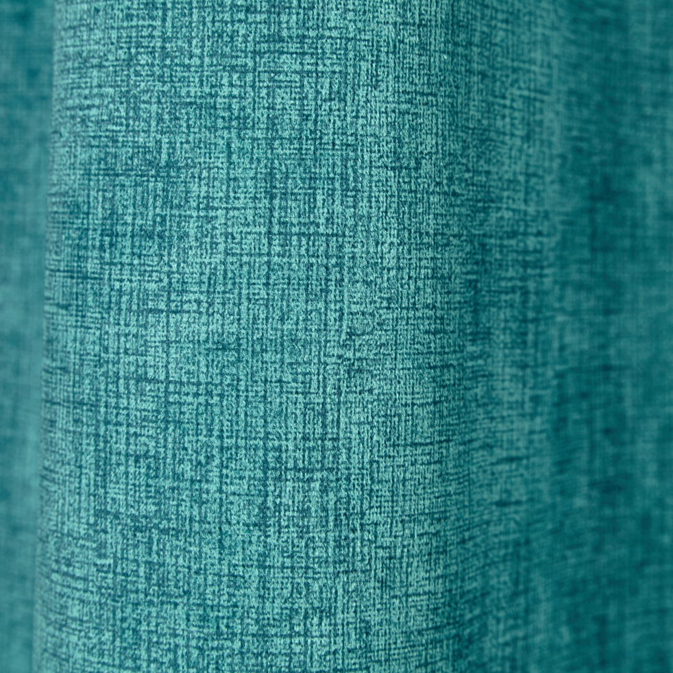 Rideau à oeillets en velours vert d'eau 140x260cm-LUPO