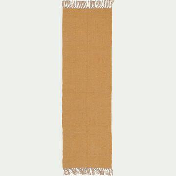 Tapis de couloir et laine et jute - jaune 60x200cm-TURAU