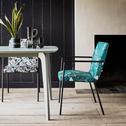 Chaise en tissu avec accoudoirs motifs corfou.30-JASPE