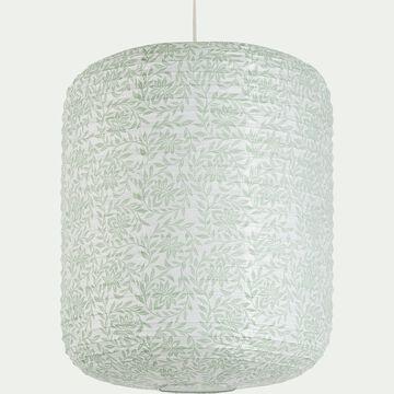 Suspension en papier - motif jasmin D40xH50cm-ALOU