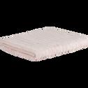 Drap de bain en viscose et coton 100x150cm rose grège-AUBIN