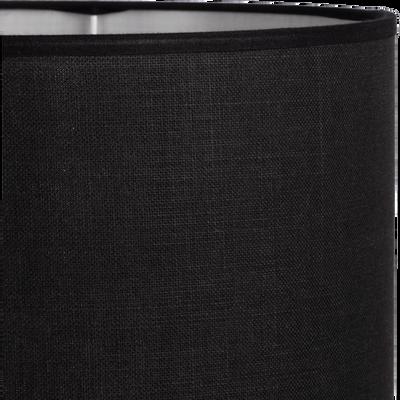 Abat-jour en tissu noir calabrun D30cm-MISTRAL