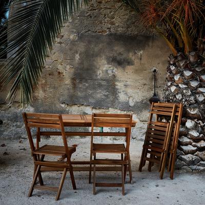 Table de jardin extensible pliante en acacia (6 à 8 places)-MILANA