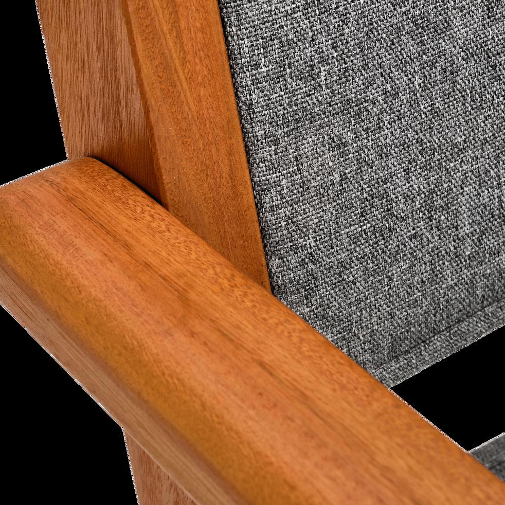 Fauteuil de jardin empilable en eucalyptus gris-DEGABY