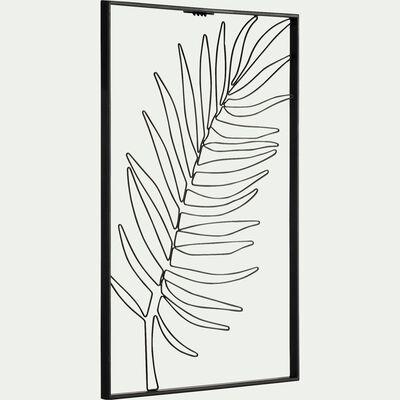 Décoration murale palmier - noir L50xl34,5cm-ADA