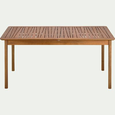 Table de jardin extensible en acacia huilée - naturel (6 à 12 places)-CARLO