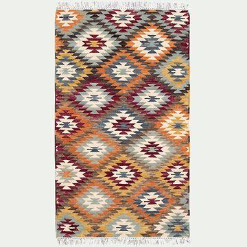 Tapis à motifs en laine - multicolore 140x200cm-STELLA