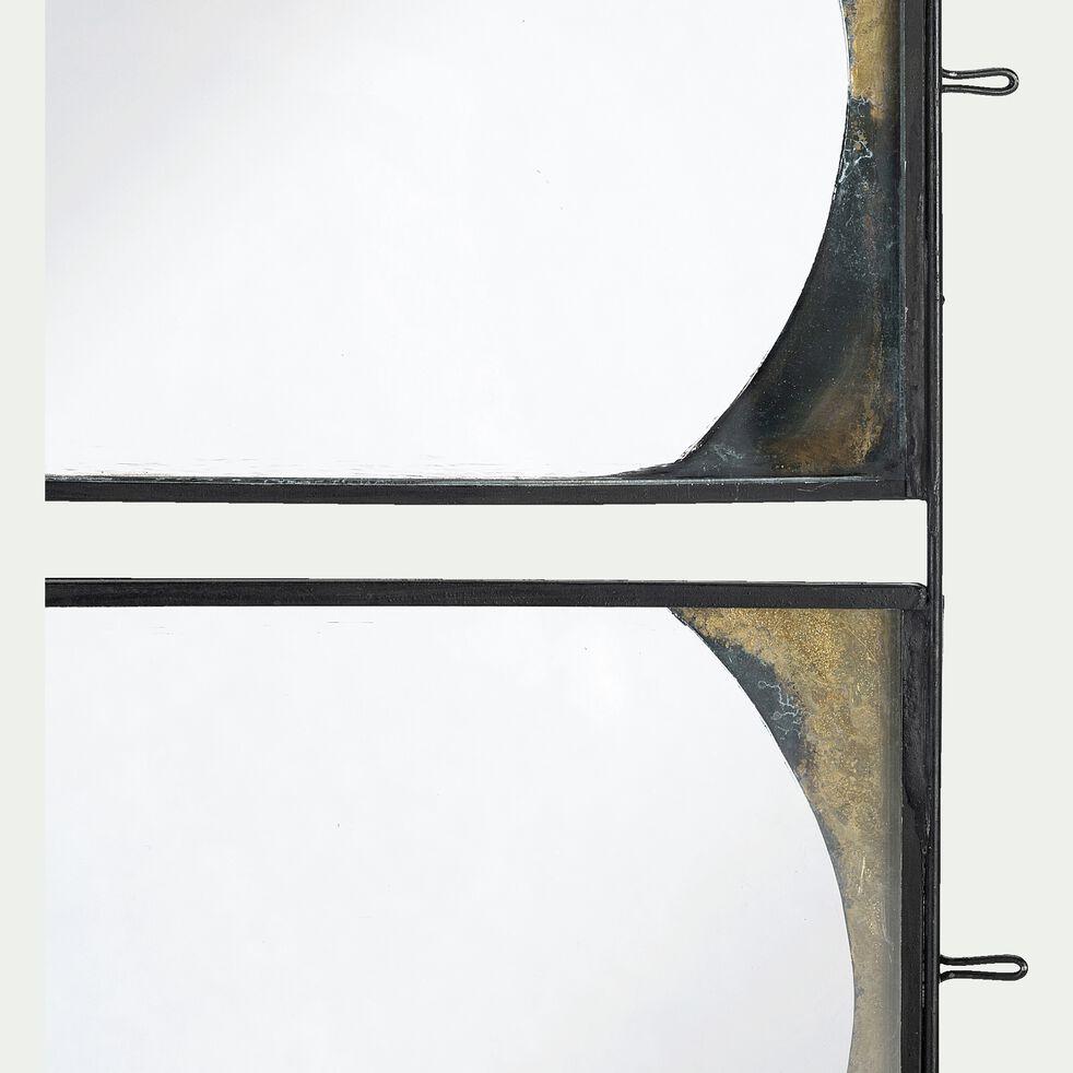 Pêle-mêle mural de 3 photos en fer et verre - doré 18x42cm-NICULAIU