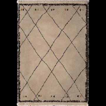 Tapis à franges esprit berbère 120x170cm-ARAMON