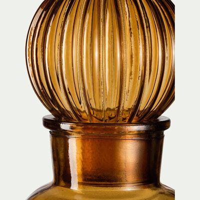 Bouteille en verre marron H23cm-ALBAN