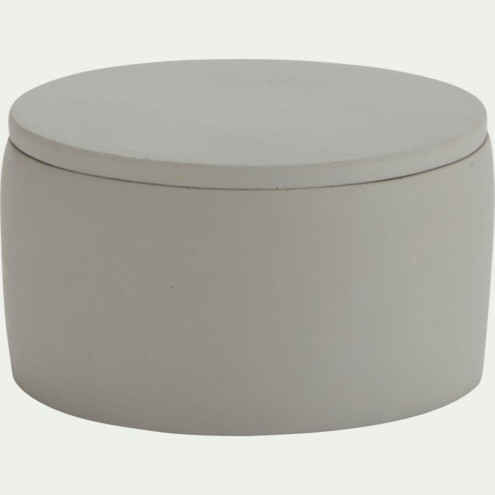 Boîte à coton en ciment - gris restanque H12,5cm-BORY