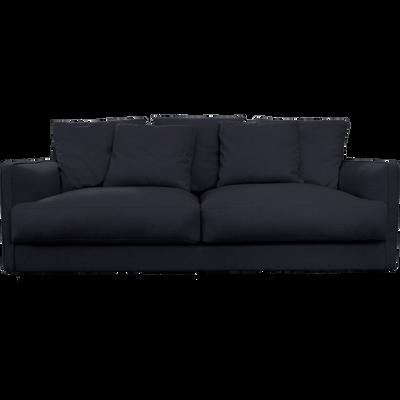 Canapé 3 places convertible en tissu gris restanque-LENITA