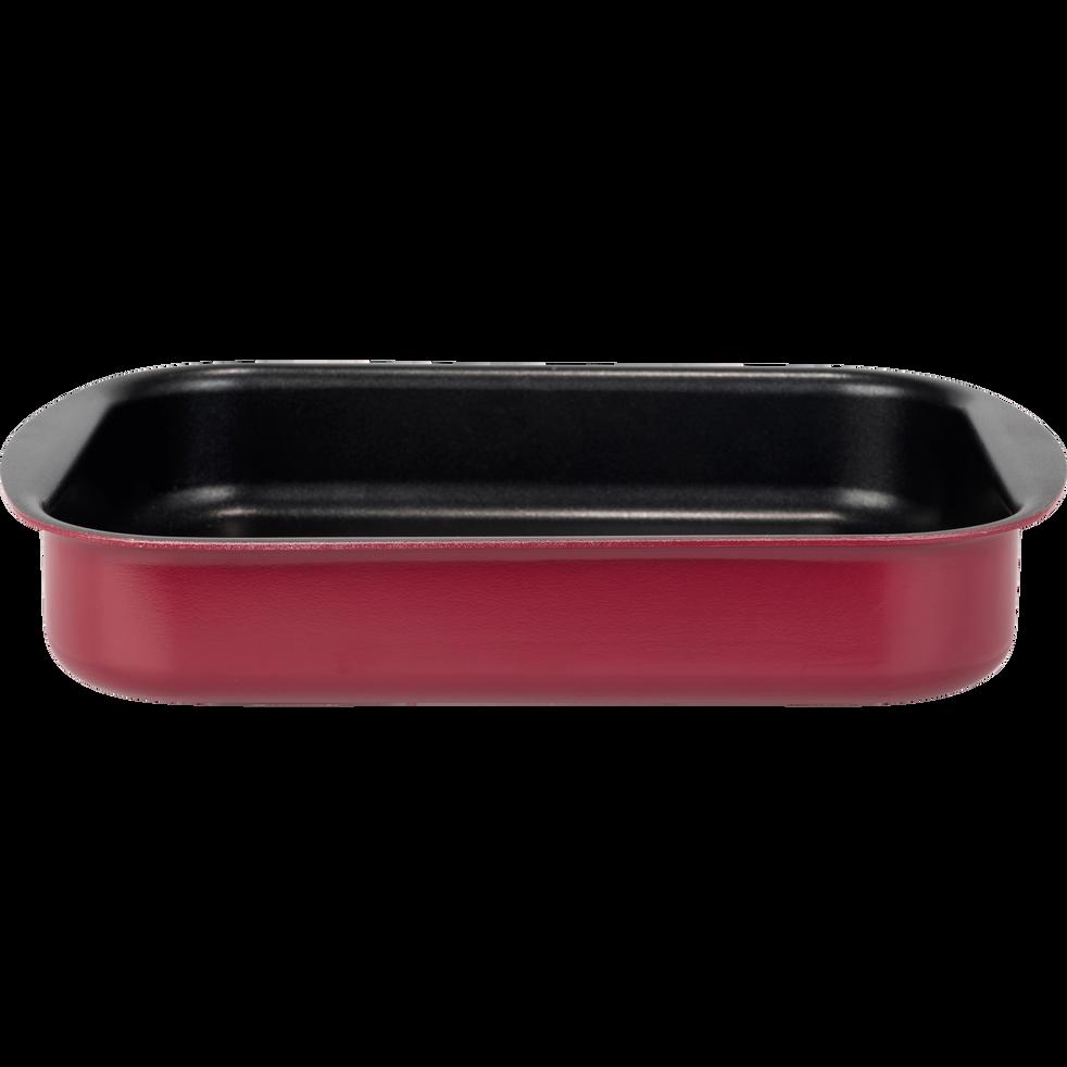 Plat à four rectangulaire en aluminium rouge sumac 25x35cm-PINTO