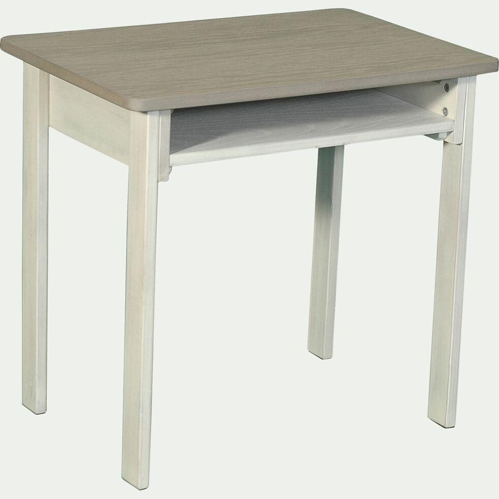 Table en acacia blanche et grise pour enfant-JULES