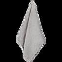 Serviette de toilette gris borie en coton nid d'abeille-CLEMATIS