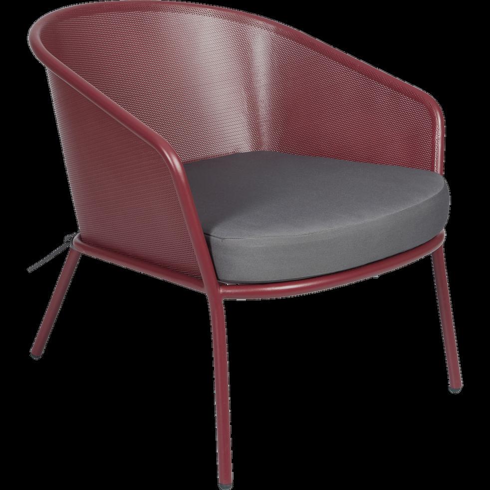 Fauteuil de jardin en en acier rouge sumac collioure fauteuils de jardin alinea - Alinea fauteuil jardin ...