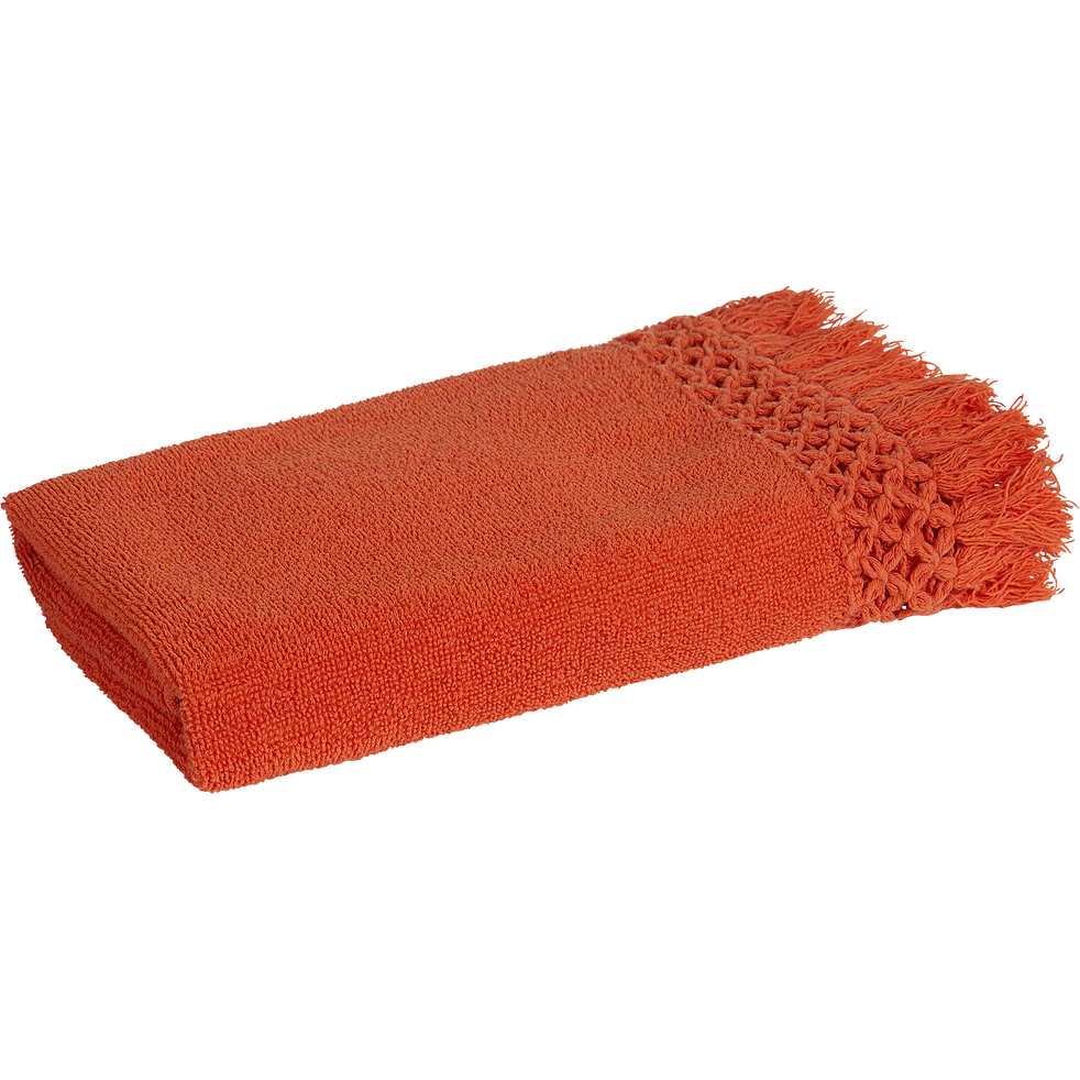 Serviette 45x90cm orange corail-BAHA