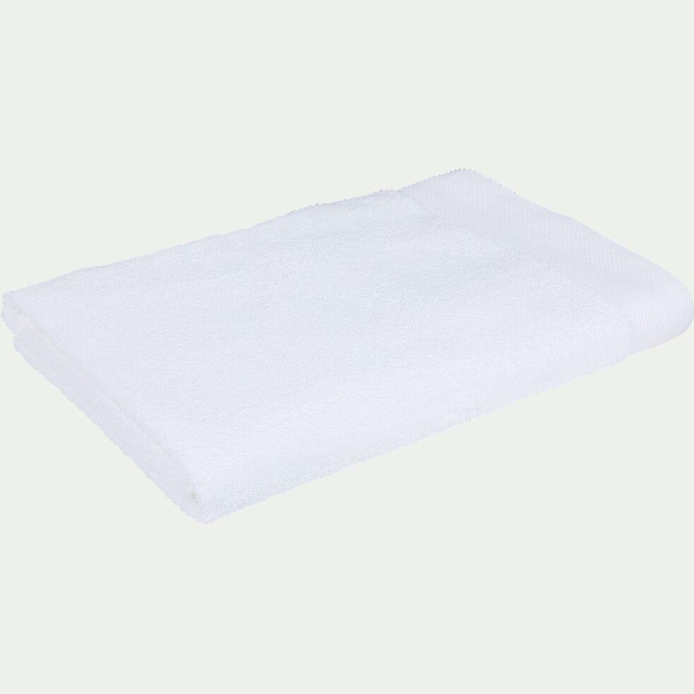 Drap de bain en coton peigné - blanc optique 100x150cm-AZUR