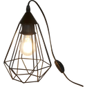 Lampe à poser géométrique en acier noir L26,5cm-TARBES
