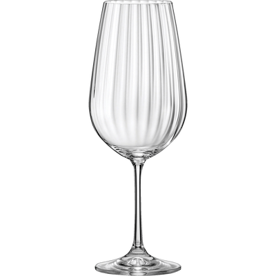 Lot de 6 verres à vin en cristallin 35cl-WATERFALL