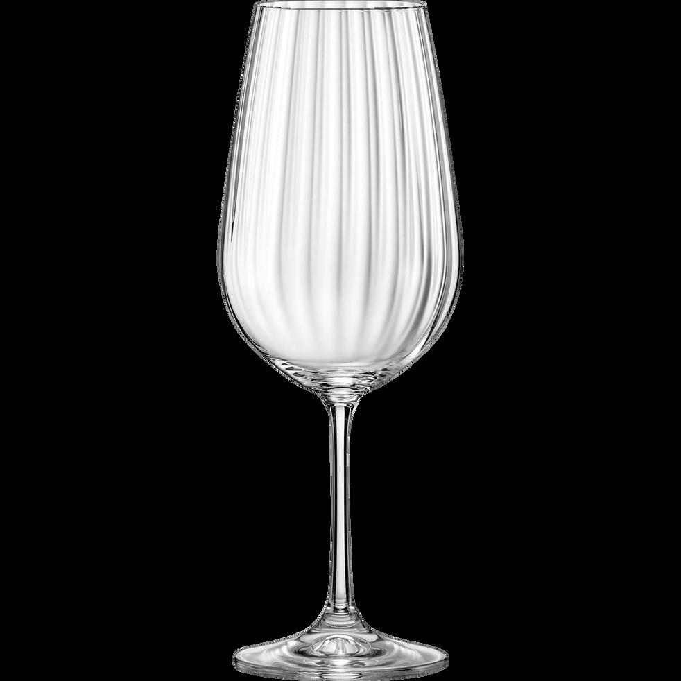 Lot de 6 verres à vin en cristallin 35cl-WATERFALL