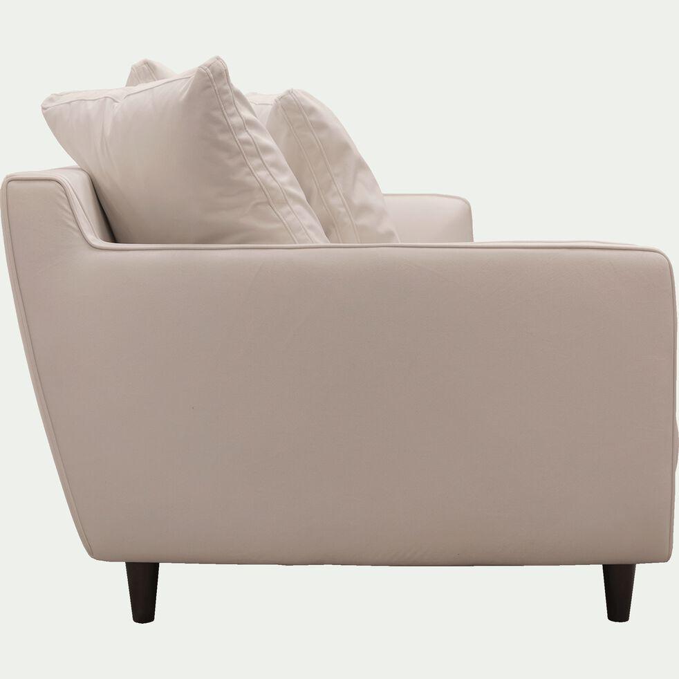 Canapé fixe 4 places en velours beige roucas-LENITA