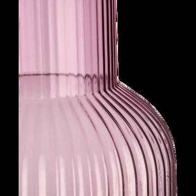 Vase en verre violet H44 cm-HEHUA