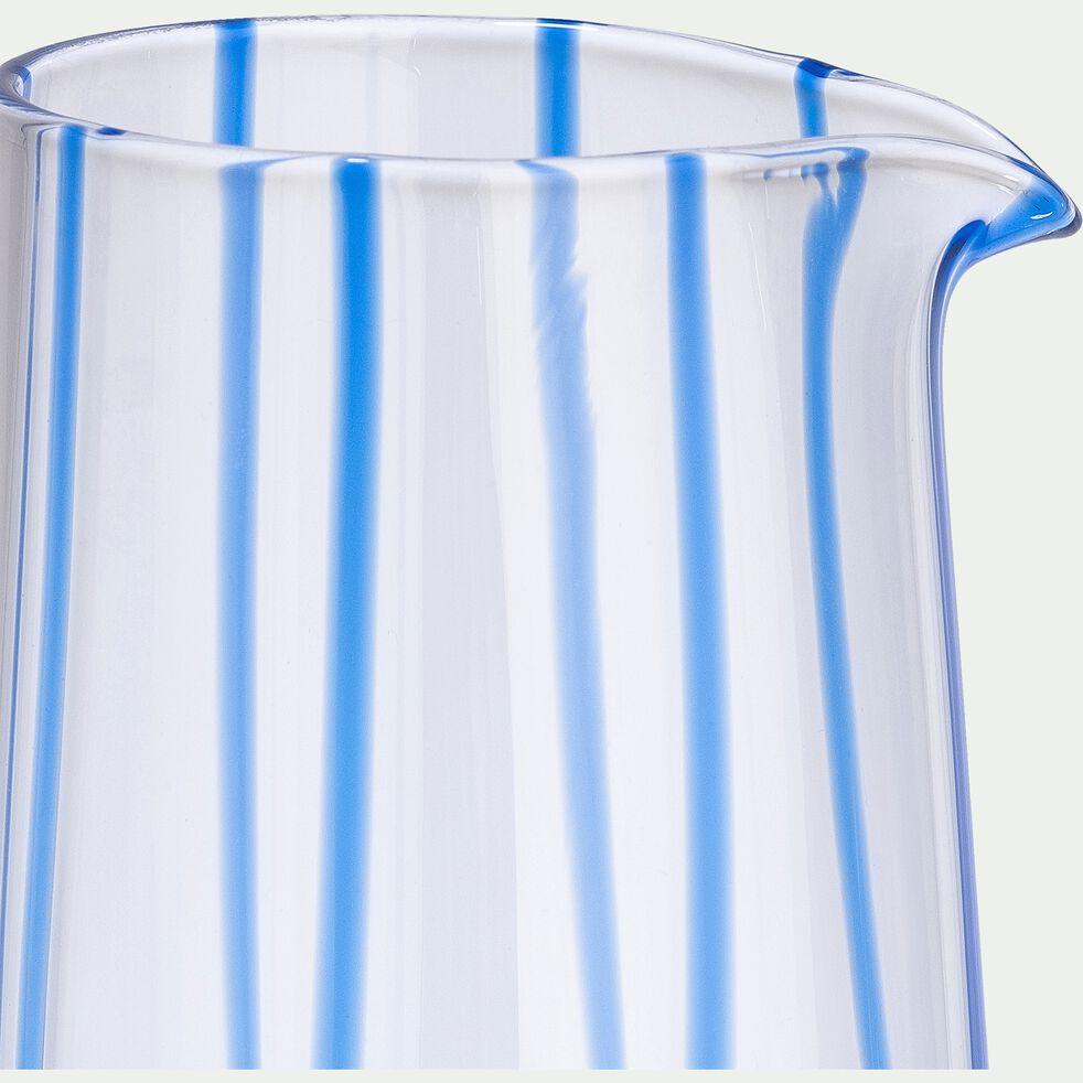 Pichet en verre 80cl - bleu-MADERE