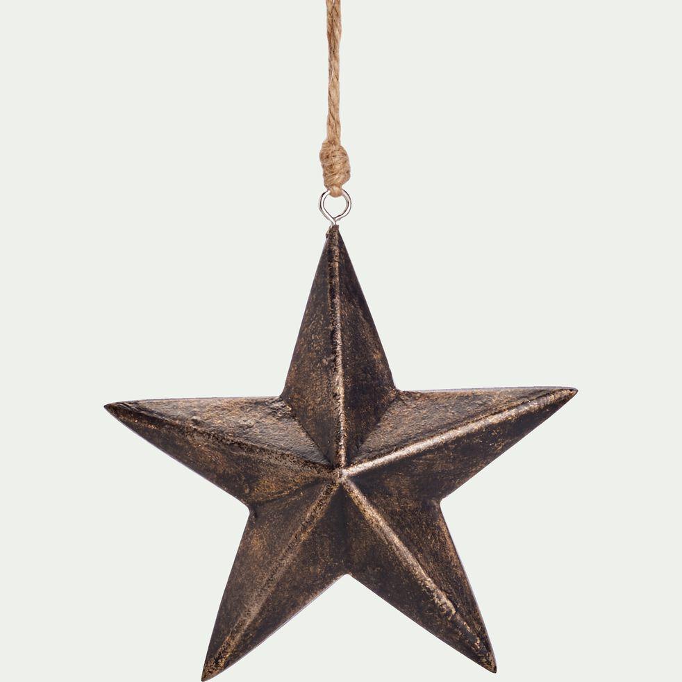 Suspension étoile 3,8x11,5x11,5cm en bois - marron-ANTONIA