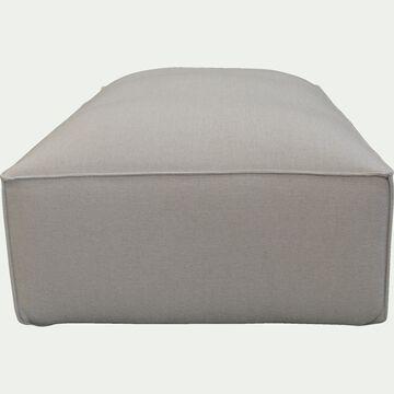 Grand pouf en tissu - L125xH40xl70cm beige roucas-REVERE