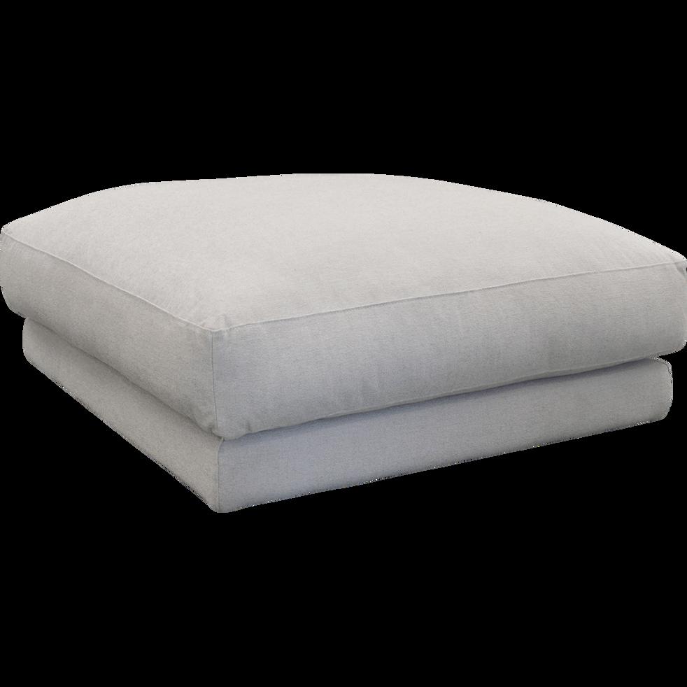 Élément de canapé pouf modulable en tissu beige roucas-AUDES