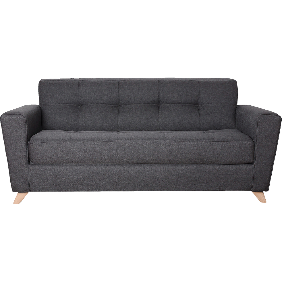 canap 3 places convertible en tissu anthracite vicky. Black Bedroom Furniture Sets. Home Design Ideas