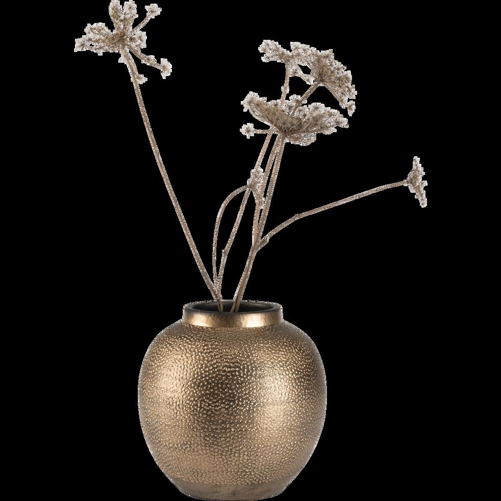 Vase en métal cuivré D19xH19cm-SIMOUN