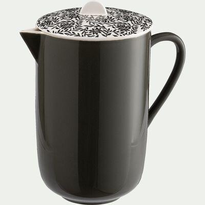 Cafetière en porcelaine - vert motif jasmin 60cl-AIX