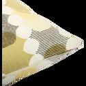 Coussin en coton vert olivier-VARAZZE