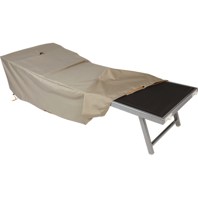 Protection taupe en polyester déperlant pour transat / bain de soleil-HOUSSE PROT