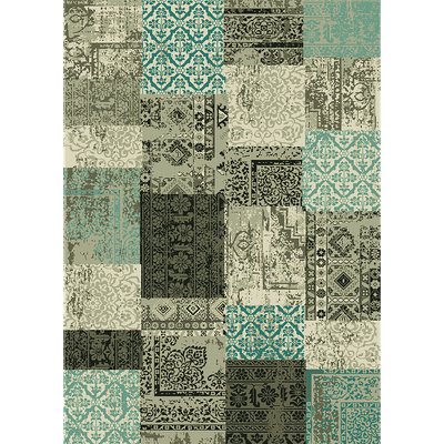 Tapis patchwork vert 160x230cm-ARTY
