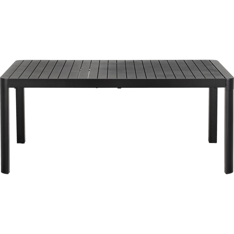 Table de jardin extensible en aluminium noir (8 à 10 places)-GUILIA