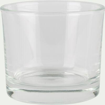 Photophore en verre transparent H8cm-SABBIA