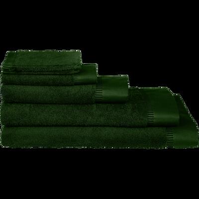Linge de toilette vert cèdre-ARROS