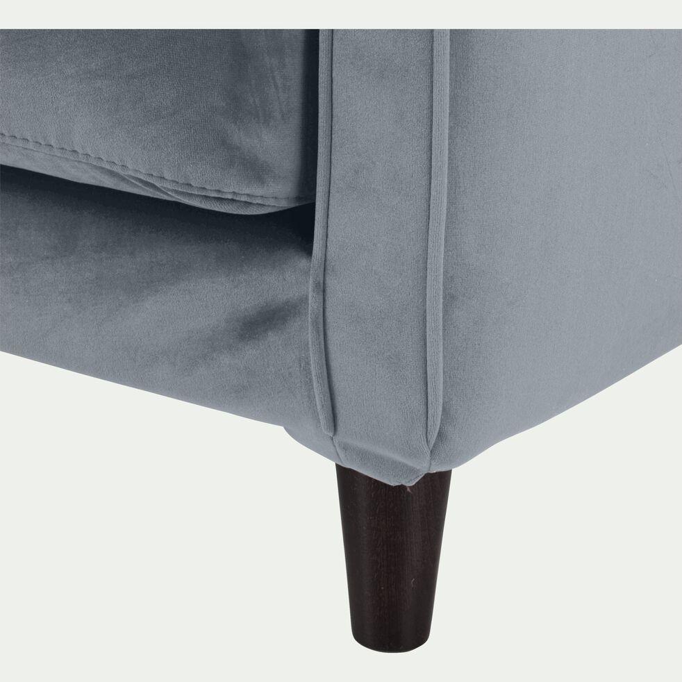 Canapé 2 places convertible en velours gris restanque-LENITA