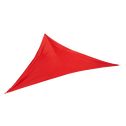 Voile d'ombrage triangulaire rouge 3,6m-Rosa