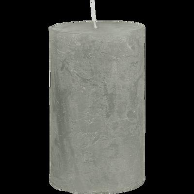 Bougie cylindrique vert olivier H11cm-BEJAIA