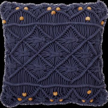 Housse de coussin en coton - bleu myrthe 45x45 cm-MOUNIA