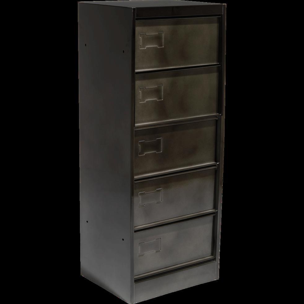meuble de rangement clapets gris vieilli larsen bureaux alinea. Black Bedroom Furniture Sets. Home Design Ideas
