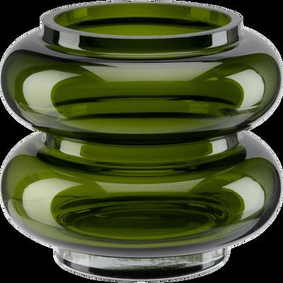 Vase en verre vert H10,5 cm-ANNA