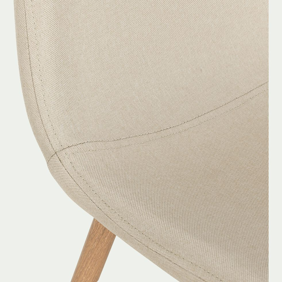 Chaise en tissu beige roucas-CHARLINE
