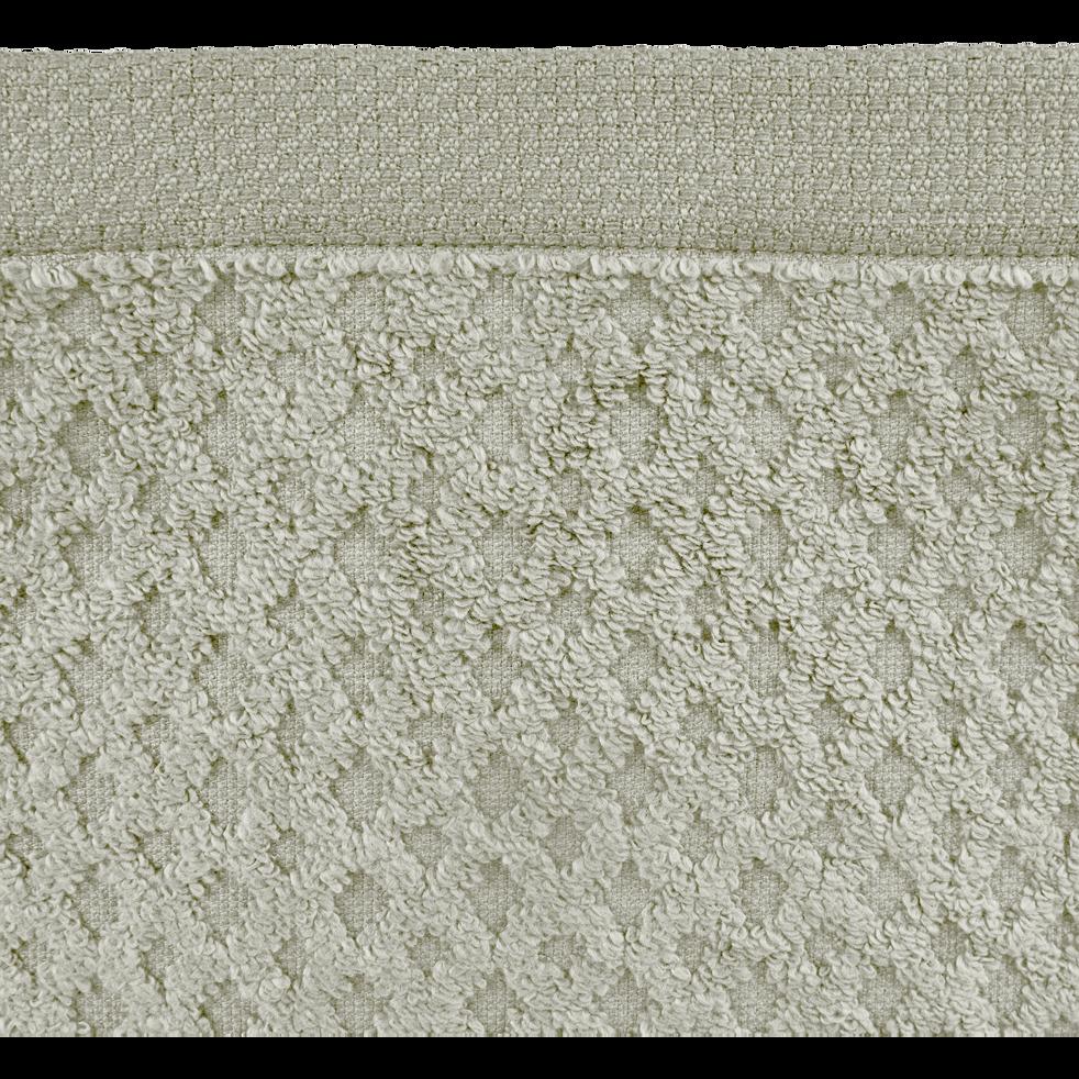 Drap de bain en coton 100x150cm vert olivier-ETEL